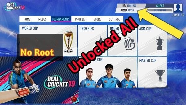 Real Cricket 19 mod ios