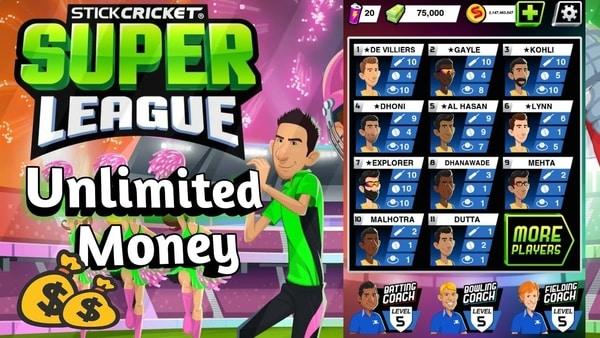 Stick Cricket Super League mod