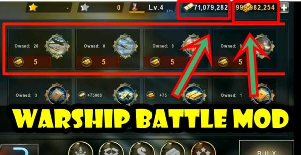 Warship Battle mod