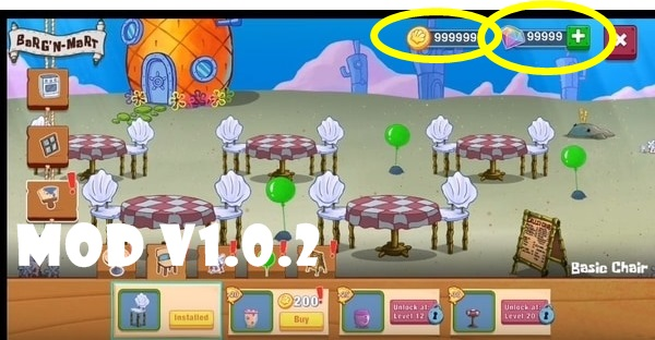 SpongeBob mod apk