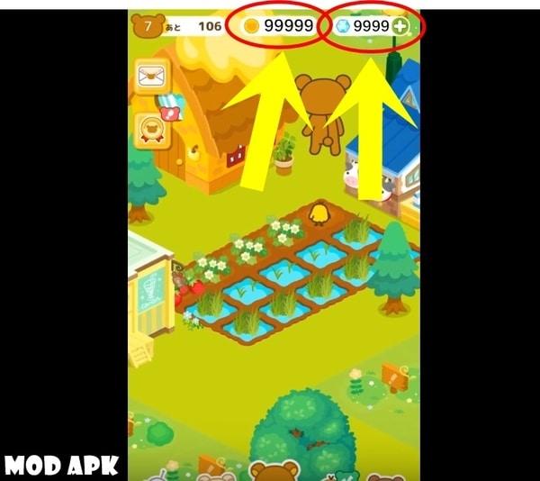 rilakkuma farm mod apk