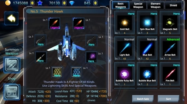 Galaxy Airforce War mod