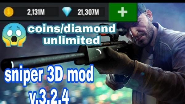 Sniper 3D mod ios