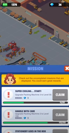 Idle Courier Tycoon mod ios