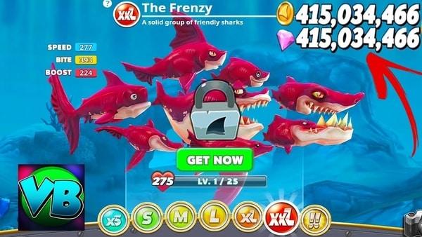 Hungry Shark World mod ios